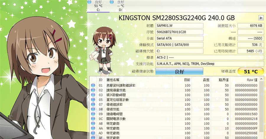 CrystalDiskInfo 8.1.0 漂亮的報表顯示您的硬碟現狀