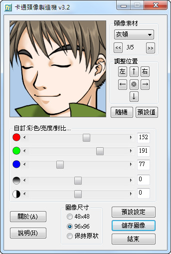 FaceMaker 3.2 - 來給自己做一張卡通頭像吧!