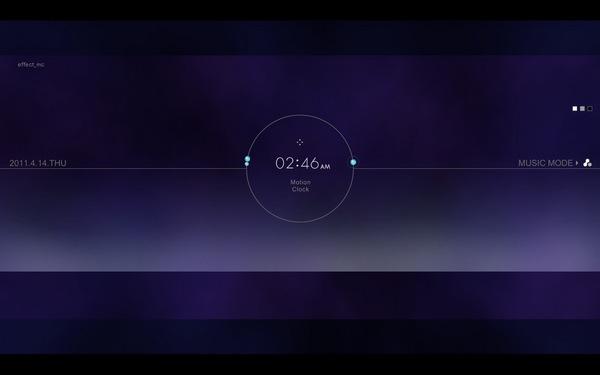 Motion Clock - 再推薦兩款時鐘螢幕保護程式