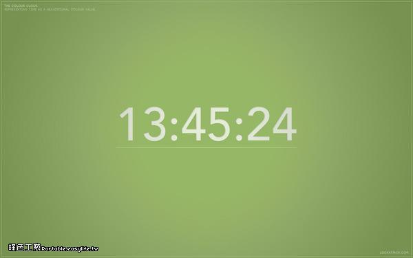The Colour Clock - 變色時鐘螢幕保護程式