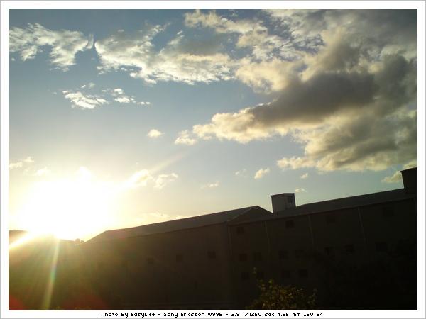 日落的景色
