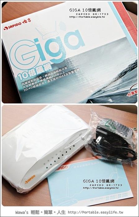 傻多Gigabit分享器。SAPIDO GR-1733