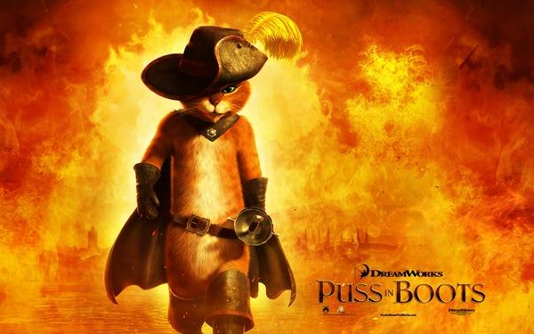 Puss In Boots鞋貓劍客。高畫質桌布、佈景主題