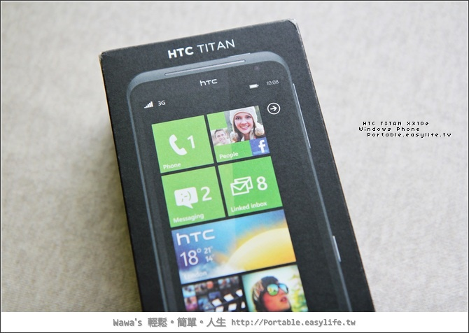 HTC TITAN X310e。Windows Phone