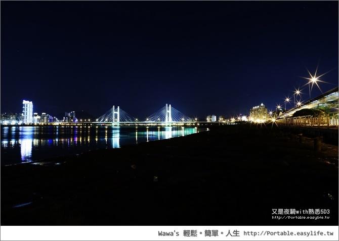 台北河濱夜騎。5D3夜拍