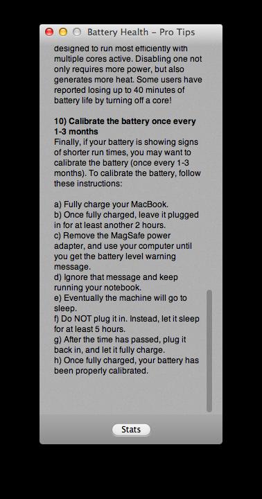 MacBook電池壽命。Battery Health