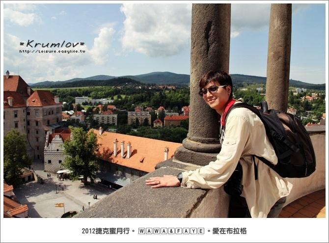【捷克】彩繪塔。Krumlov 庫倫諾夫最佳拍照地點&城堡區漫步走
