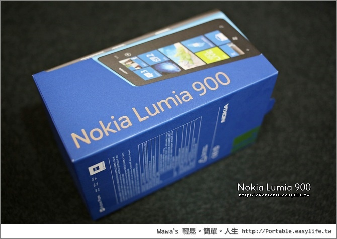 Nokia Lumia 900 白色開箱。Windows Phone