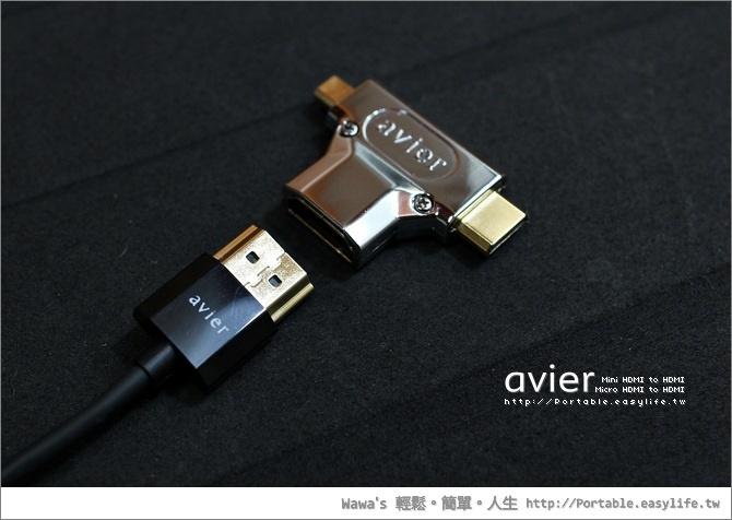 avier HDMI三合一行動組。Micro HDMI轉HDMI、Mini HDMI轉HDMI