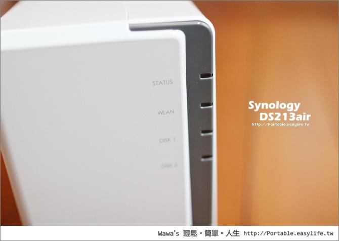 Synology DS213air。內建無線網路的網路儲存器