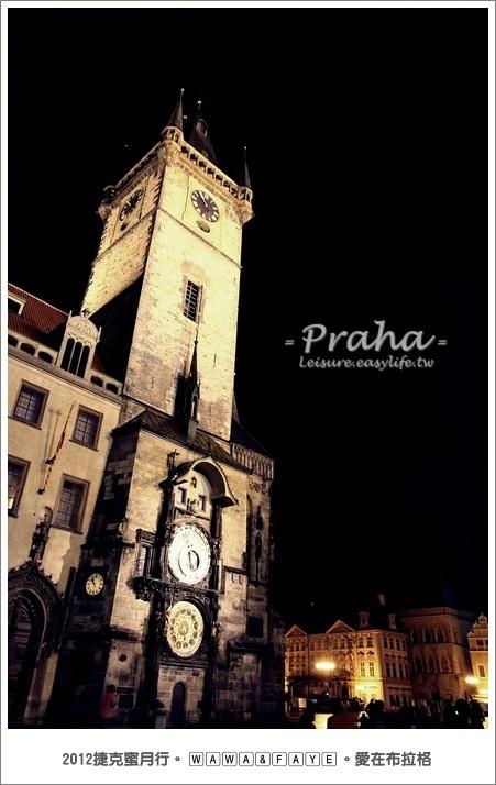 天文鐘、布拉格廣場。捷克旅遊,捷克蜜月
