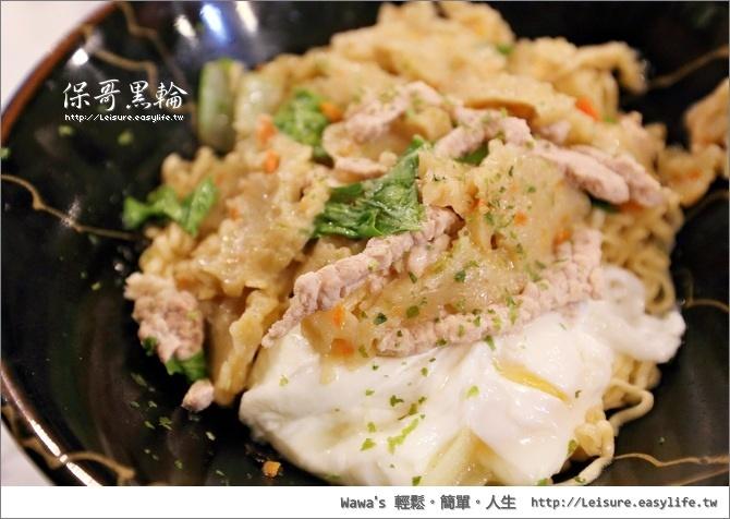 保哥黑輪炒泡麵。台南美食、台南小吃