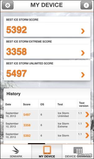 iOS 3DMARK 手機顯示評測