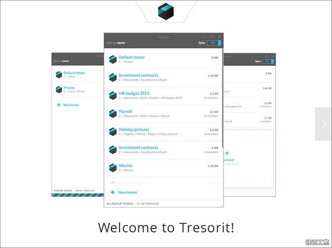 Tresorit免費雲端空間