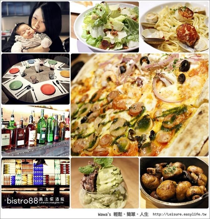 【台南】bistro88 義法餐酒館,多樣化的美食饗宴(小西門)