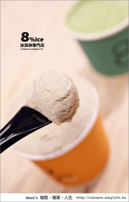 8% ice 冰淇淋專門店。台南新光三越小西門