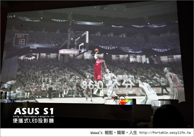 ASUS S1 便攜型 LED 投影機+行動電源