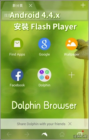 【教學】Android 4.4.x 安裝 Flash Player,搭配 Dolphin Browser 瀏覽