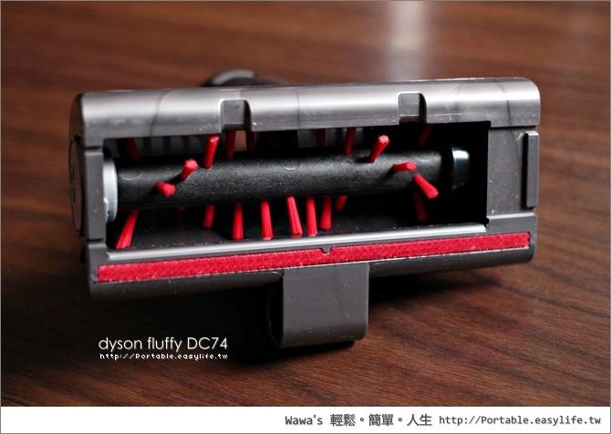 開箱 dyson fluffy DC74 數位馬達無線手持式吸塵器
