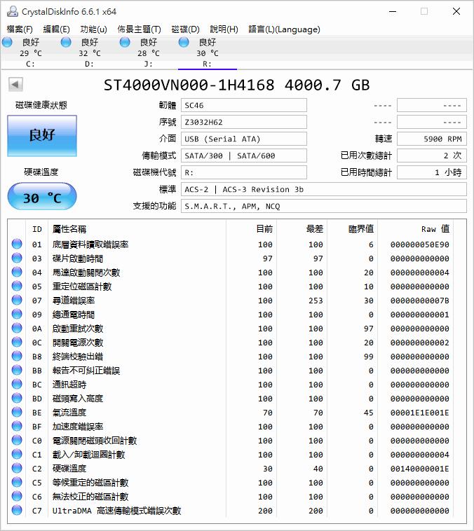 Seagate NAS 專用硬碟 ST4000VN000