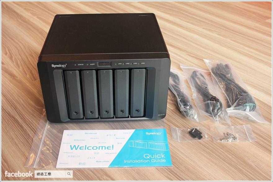 Synology DiskStation DS1515+ 5Bay網路儲存伺服器