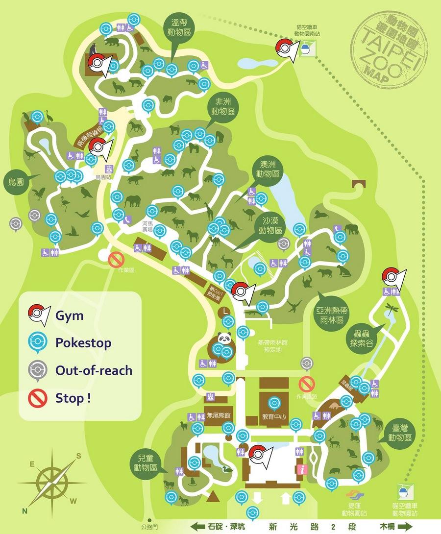 Taipei Zoo PokeMap