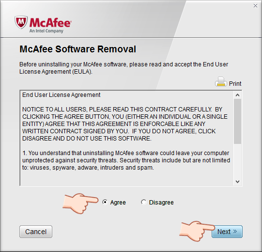 McAfee Software Removal 徹底移除工具