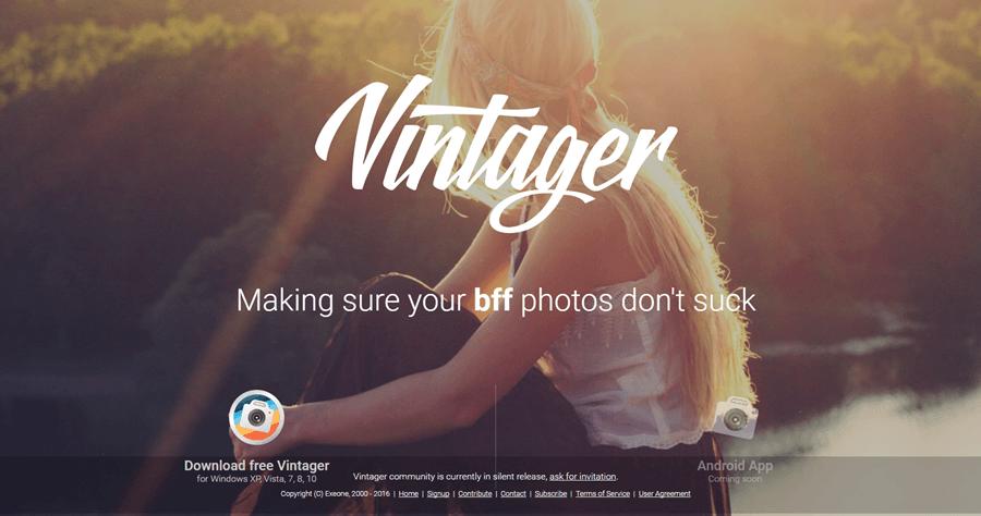 Vintager 復古風圖片製作