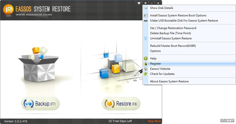 Eassos System Restore 系統影像備份與還原