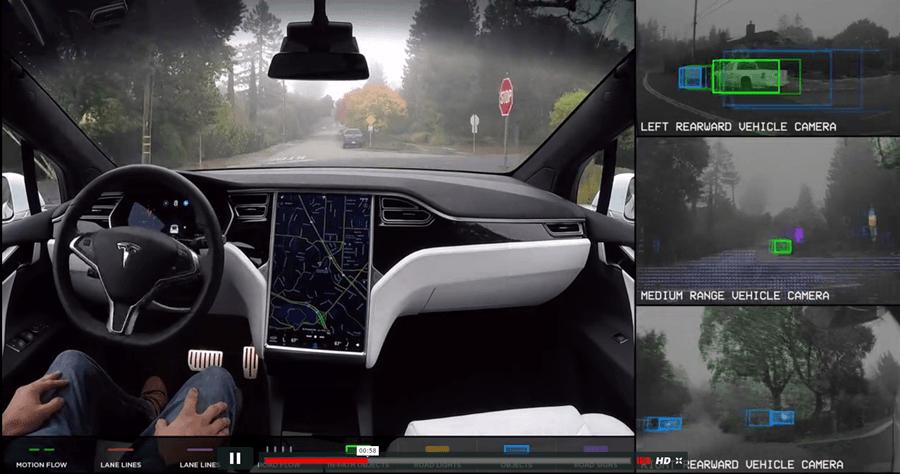 Tesla 特斯拉電動車自動駕駛