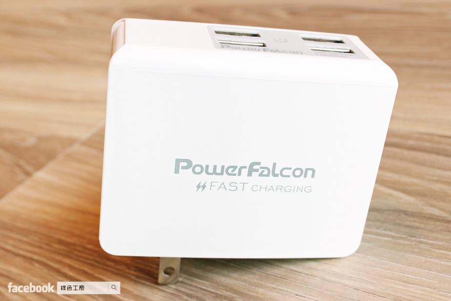 PowerFalcon 可折疊插頭 4Port USB 快速充電器 25W