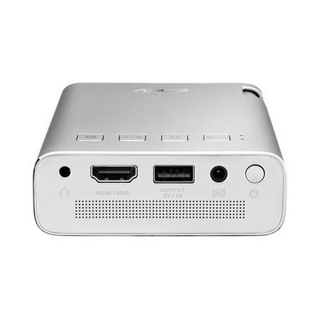 華碩ZenBeam E1掌上式行動電源LED投影機,150流明,內置6000mAh電池,長達5小時投影,自動梯形校正,HDMI / MHL連接埠