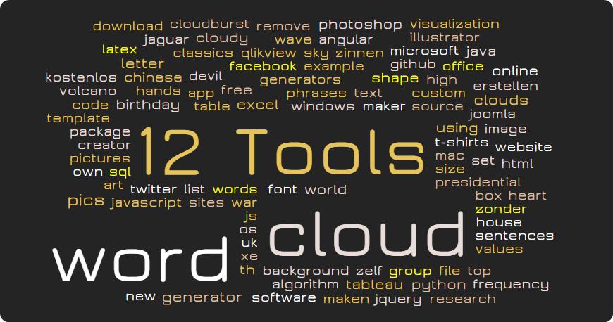 12款線上文字雲工具