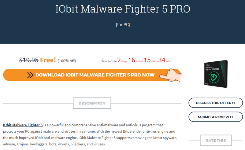 IObit Malware Fighter 5 PRO 限時免費 License