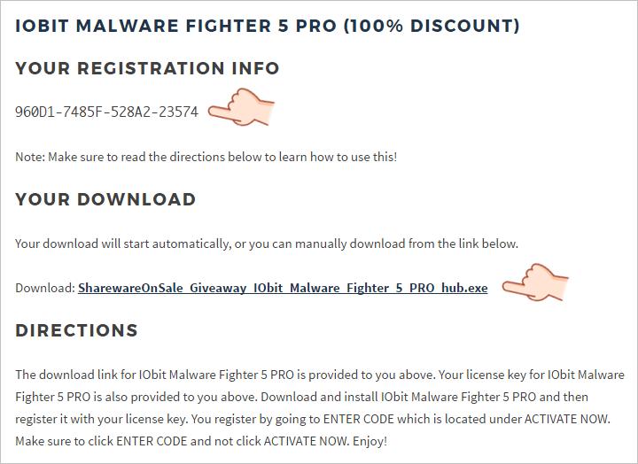 IObit Malware Fighter 5 PRO 限時免費 License
