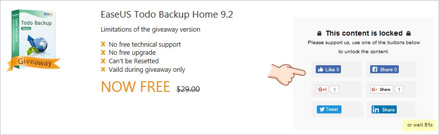 EaseUS Todo Backup Home 限時免費