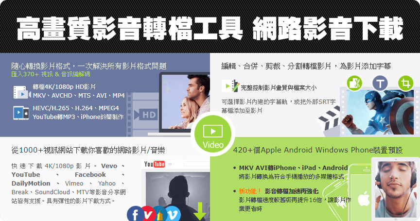 限時免費 WinX HD Video Converter Deluxe 5.16 高畫質影音轉檔工具(Windows、Mac)