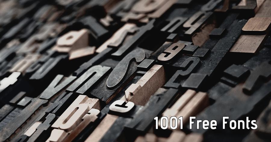 1001 Free Fonts 上千款英文字型免費下載,可線上即時預覽