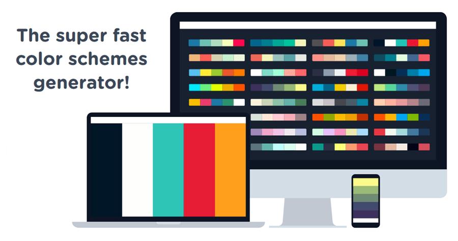 Coolors 線上免費配色產生器