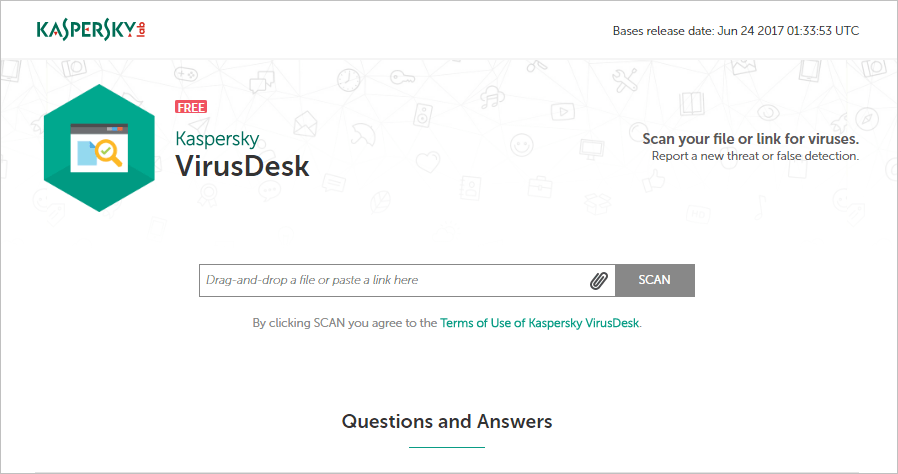 卡巴斯基線上掃毒工具 Kaspersky VirusDesk