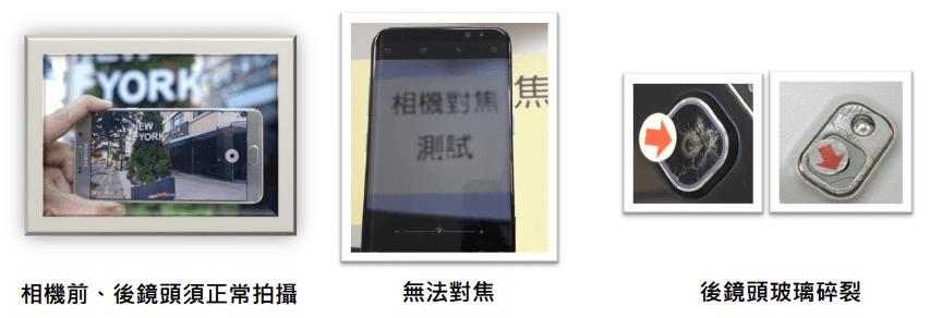 三星智慧館 Galaxy Note8 舊換新檢測標準說明
