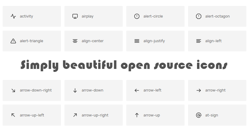 Feather Simply beautiful open source icons