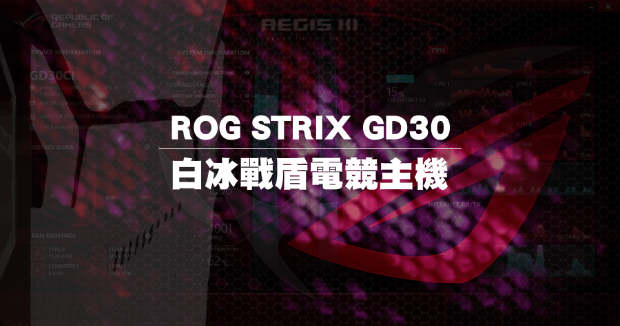 電競主機 ROG STRIX GD30CI 開箱評測