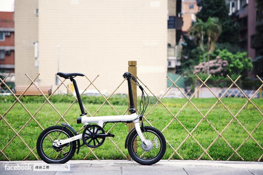 QiCYCLE 騎記電助力折疊自行車,河濱到淡水騎車去