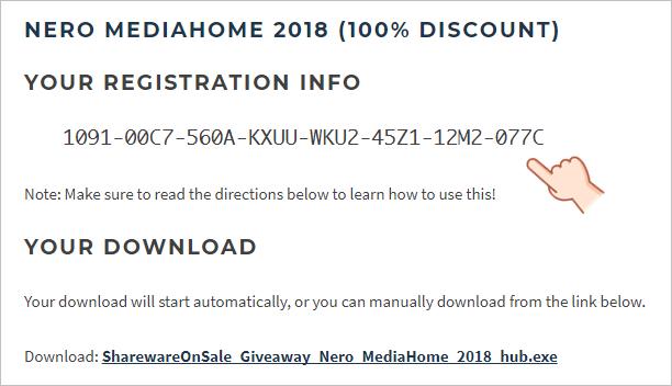 Nero MediaHome 2018 限時免費