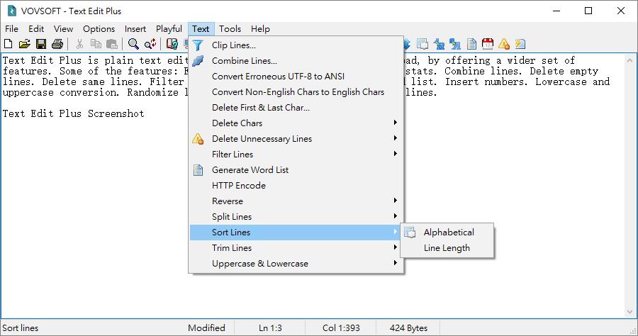 Text Edit Plus 小巧文字工具免安裝版
