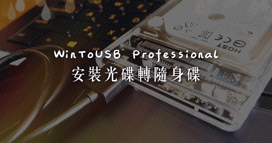 WinToUSB Professional 序號 License