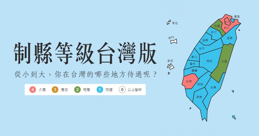 制縣等級台灣版