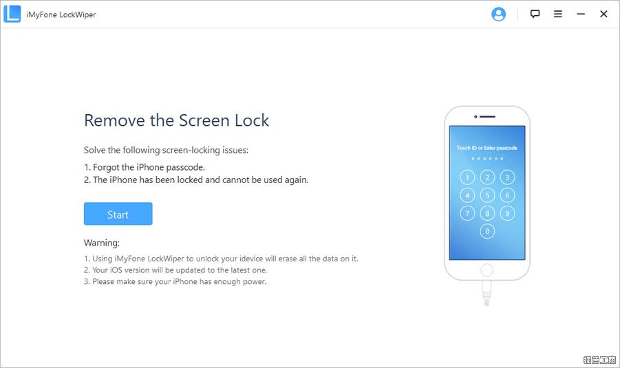 iMyFone LockWiper iPhone 忘記密碼、密碼遺失、密碼鎖定解鎖方法