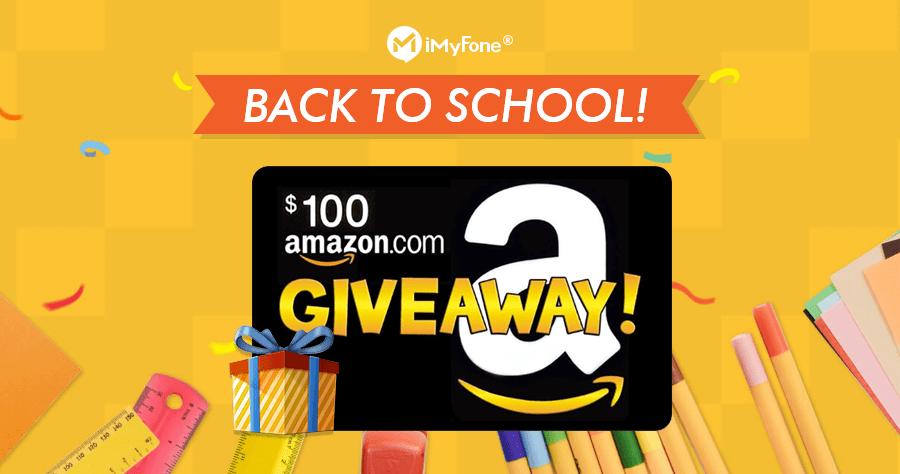 iMyFone Back to School 明星商品大優惠,免購物最高可贏得 100 美金亞馬遜禮品卡